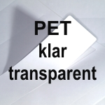 PET Laser klar transparent