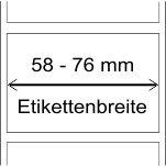 58 - 76 mm Breite