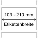 103 - 210 mm Breite