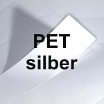 PET Laser silber