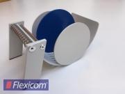 Manuelles Tischspendegerät für Rollenetiketten, blau