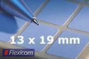 Vielzweck-Etiketten, permanent, 13 x 19 mm, 30 Blatt