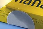 FX4010-Gelb Sicherheitssiegel aus gelbem Papier, 40 mm rund, blanko
