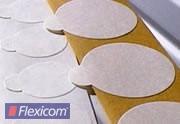 Doppelseitig klebende Etiketten, 15 mm rund, Papier weiß, permanent