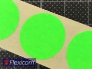 Markierungspunkte, leuchtgrün