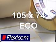 Flexicom Rollenetiketten, Format 105 x 74 mm, Papier Thermo Eco