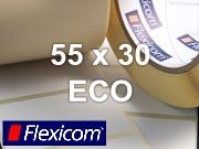 Flexicom Rollenetiketten, Format 55 x 30 mm, Papier Thermo Eco