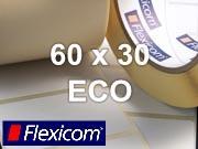Flexicom Rollenetiketten, Format 60 x 30 mm, Papier Thermo Eco
