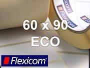 Flexicom Rollenetiketten, Format 60 x 90 mm, Papier Thermo Eco