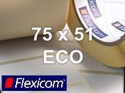 Flexicom Rollenetiketten, Format 75 x 51 mm, Papier Thermo Eco