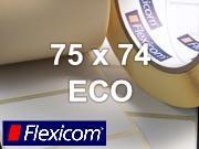 Flexicom Rollenetiketten, Format 75 x 74 mm, Papier Thermo Eco
