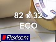 Flexicom Rollenetiketten, Format 82 x 32 mm, Papier Thermo Eco