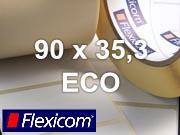 Flexicom Rollenetiketten, Format 90 x 35,3 mm, Papier Thermo Eco