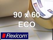 Flexicom Rollenetiketten, Format 90 x 60 mm, Papier Thermo Eco