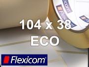 Flexicom Rollenetiketten, Format 104 x 38 mm, Papier Thermo Eco