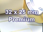 Zebra Rollenetiketten, Format 32 x 25 mm, Z-Select 2000T