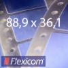 EDV-Etiketten 88,9 x 36,1 mm, 3-bahnig