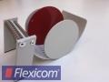Manuelles Tischspendegerät für Rollenetiketten, rot