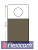HangTab mit runder Lochung 25 x 50 mm
