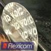Clear Void - transparente Sicherheitsetiketten mit Hologrammeffekt - 30 mm rund