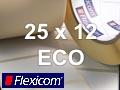 Flexicom Rollenetiketten, Format 25 x 12 mm, Papier Thermo Eco