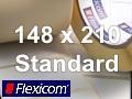 Flexicom Rollenetiketten, Format 148 x 210 mm, Papier, weiß, ablösbar