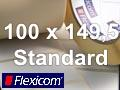 Flexicom Rollenetiketten, Format 100 x 149,5 mm, Papier, weiß