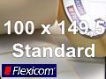 Flexicom Rollenetiketten, Format 100 x 149,5 mm, Papier, weiß, ablösbar