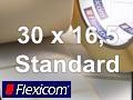 Flexicom Rollenetiketten, Format 30 x 16,5 mm, Papier, weiß, ablösbar