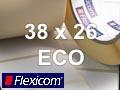 Flexicom Rollenetiketten, Format 38 x 26 mm, Papier Thermo Eco
