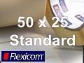 Flexicom Rollenetiketten, Format 50 x 25 mm, Papier, weiß, ablösbar
