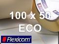 Flexicom Rollenetiketten, Format 100 x 50 mm, Papier Thermo Eco