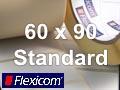 Flexicom Rollenetiketten, Format 60 x 90 mm, Papier, weiß, ablösbar