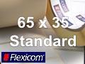 Flexicom Rollenetiketten, Format 65 x 35 mm, Papier, weiß, ablösbar