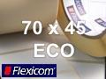 Flexicom Rollenetiketten, Format 70 x 45 mm, Papier Thermo Eco
