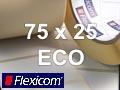 Flexicom Rollenetiketten, Format 75 x 25 mm, Papier Thermo Eco