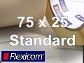 Flexicom Rollenetiketten, Format 75 x 25 mm, Papier, weiß, ablösbar