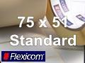 Flexicom Rollenetiketten, Format 75 x 51 mm, Papier, weiß