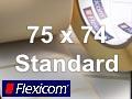 Flexicom Rollenetiketten, Format 75 x 74 mm, Papier, weiß, ablösbar