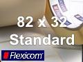 Flexicom Rollenetiketten, Format 82 x 32 mm, Papier, weiß