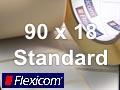 Flexicom Rollenetiketten, Format 90 x 18 mm, Papier, weiß