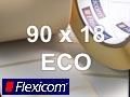 Flexicom Rollenetiketten, Format 90 x 18 mm, Papier Thermo Eco
