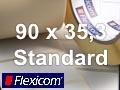 Flexicom Rollenetiketten, Format 90 x 35,3 mm, Papier, weiß, ablösbar