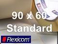 Flexicom Rollenetiketten, Format 90 x 60 mm, Papier, weiß, ablösbar