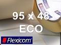 Flexicom Rollenetiketten, Format 95 x 48 mm, Papier Thermo Eco