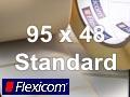 Flexicom Rollenetiketten, Format 95 x 48 mm, Papier, weiß, ablösbar