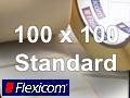 Flexicom Rollenetiketten, Format 100 x 100 mm, Papier, weiß, ablösbar