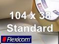 Flexicom Rollenetiketten, Format 104 x 38 mm, Papier, weiß