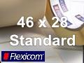 Flexicom Rollenetiketten, Format 46 x 28 mm, Papier, weiß