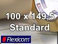 Flexicom Rollenetiketten, Format 100 x 149,5 mm, PET silber